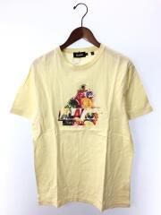 Tシャツ/M/コットン/YLW/01193118/フルーツ
