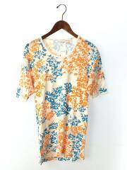 Tシャツ/M/コットン/WHT/総柄