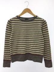 セーター(薄手)/2/ウール/GRY/ボーダー