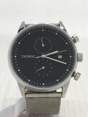 TAYROC/クォーツ腕時計/アナログ/ステンレス/BLK/SLV/TXM088