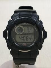 クォーツ腕時計/デジタル/ラバー/BLK/BLK/G-2000/