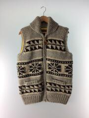ニットベスト(厚手)/L/ウール/GRY/WT-N908/17AW/Cowichan Knit Vest