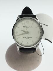 クォーツ腕時計/型押しベルト/VJ21-KM30/アナログ/レザー/WHT/BLK