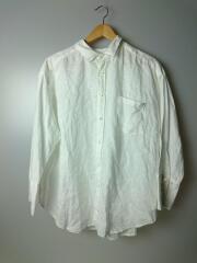 カフスデザインリネンシャツ/長袖シャツ/O/リネン/WHT/無地/09WFB201029