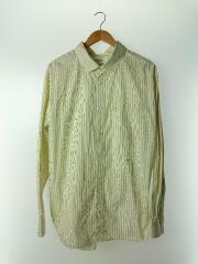 19SS/オーバーサイズシャツ/長袖シャツ/M/コットン/YLW/ストライプ