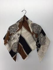 スカーフ/シルク/BLK/プリント
