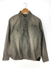 SAVAGE . CHAMBRAY/C-SHIRT/202ytnh-shm01長袖シャツ/S/コットン/BLK