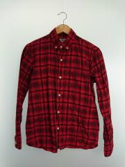 ネルシャツ/M/コットン/RED/チェック