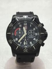 ULTIMATE U.S.NAVY SEAL/クォーツ腕時計/アナログ/レザー/BLK/8360