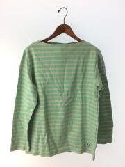 長袖Tシャツ/4/コットン/グリーン/ボーダー/タグ付/E18 947977