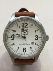 クォーツ腕時計/アナログ/フェイクレザー