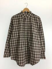 19AW/LOOSE FIT L/S CHECK SHIRT/M/コットン/WHT/チェック/19A-WS-004