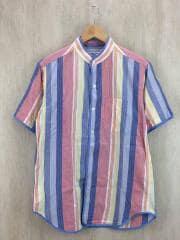 エンジニアードガーメンツ/Copley Shirt/半袖シャツ/S/コットン/BLU/ストライプ