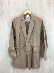 テーラードジャケット/38/リネン/BEG