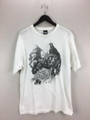 ドラゴン/Tシャツ/M/コットン/WHT/ステューシー