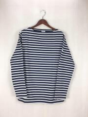 長袖Tシャツ/4/コットン/BLU/ボーダー/オーチバル