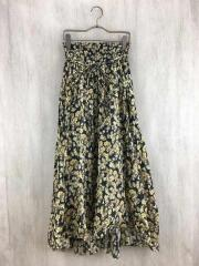 裾切りっぱなしフレアスカート/0/--/花柄/09WFS192027/ミラオーウェン