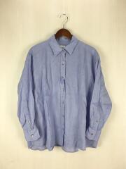 アサビックシャツ/長袖シャツ/FREE/リネン/BLU/無地