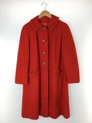 ステンカラーコート/ウール/RED/無地
