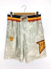 xMitchell & Ness/Golden State Warriors Shorts White/M//ショートパンツ バスケットボールショーツ