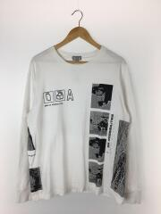 POTENTIALITIES LONG SLEEVE TEE/L/コットン/WHT/シーイー