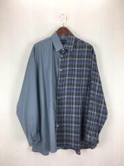 ハーフチェックシャツ/3/ポリエステル/BLU/チェック/400400007/ユナイテッドトウキョウ