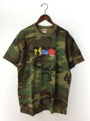 19FW/LIFE TEE WOODLAND CAMO/Tシャツ/L/コットン/KHK/カモフラ