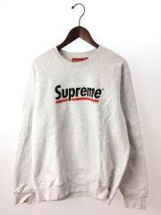 20SS/Underline Crewneck Sweatshirts/スウェット/M/コットン/GRY