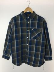 ヘビーフランネルシャツシャツ/コットン/BLU/チェック/ビームスボーイ