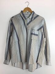 ビートストライプリラックスレギュラーカラーシャツ/長袖シャツ/1/コットン/マルチカラー/ストライプ