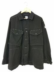 PRS Shirts/ミリタリーシャツ/S/アクリル・ポリエステル/BLK/エーアイイー