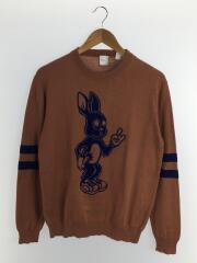 Rabbitクルーネックニット/セーター/LL/コットン/BRW/PF-NR-51316/ポールスミス