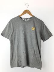 Tシャツ/L/コットン/GRY/プレイコムデギャルソン