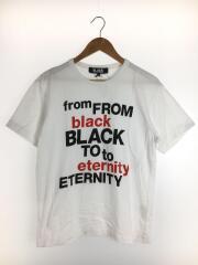 1Z-T003/Tシャツ/L/コットン/WHT/ブラックコムデギャルソン