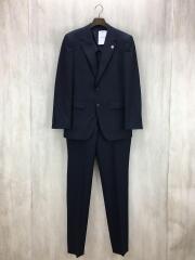 スーツ/M/ポリエステル/NVY/ストライプ