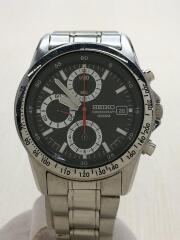 クロノグラフ/100M/クォーツ腕時計/アナログ/ステンレス/BLK/SLV/7T92-0DW0