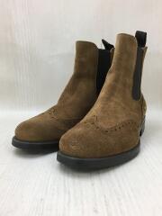サイドゴア ショート ブーツ/37/BRW/スウェード