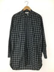 チェック ロング丈 長袖シャツ