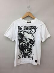 ROTTENGRAFFTY×Zephyren/Tシャツ/M/コットン/WHT/デザインTシャツ