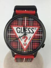 GUESS/ゲス/クォーツ腕時計/アナログ/V1029M2/ラバー/マルチカラー/チェック