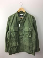 ミリタリージャケット/シャツジャケット/19年モデル/FOM19AW003/M/コットン/KHK/無地