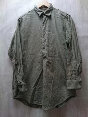チェコ軍/60s~70s/スリーピングシャツ/長袖シャツ/40/カーキ/日焼け有