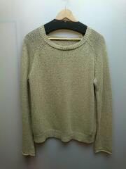 Backslit Linen Knit/F/リネン/BRW/麻55/コットン45/