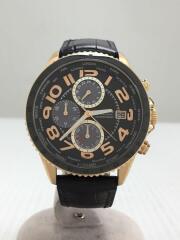 クォーツ腕時計/アナログ/レザー/MOS44