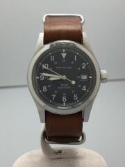 Khaki/Outmatic/自動巻腕時計/アナログ/レザー/NVY/BRW/00093