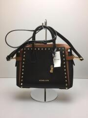 Studded Leather Belted Satchel/ショルダーバッグ/BLK/30F9GM9S1T