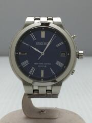 7B52-0AH0/ソーラー腕時計/アナログ/ステンレス/BLU/SLV/ベルト擦れ有