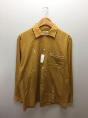 1960-70s/PURITAN/オープンカラー/ボックス/シャツ/L/ポリエステル/YLW