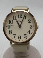 ALBA/RIKI/クォーツ腕時計/アナログ/レザー/WHT/840411
