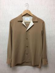 ステェファニーコンビオープンカラーシャツ/1/ポリエステル/BEG/109200001